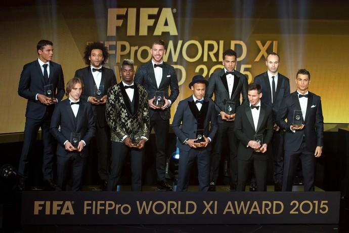 Jogadores eleitos para a seleção do ano (Crédito: Divulgação/ Fifa)