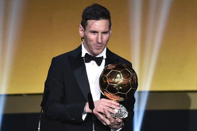 Messi levou Bola de Ouro pela 5ª vez (Crédito: AFP)