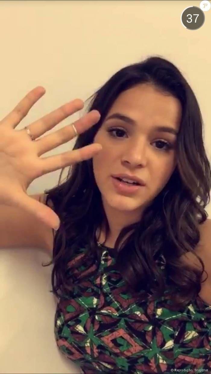 Bruna Marquezine (Crédito: Snapchat)