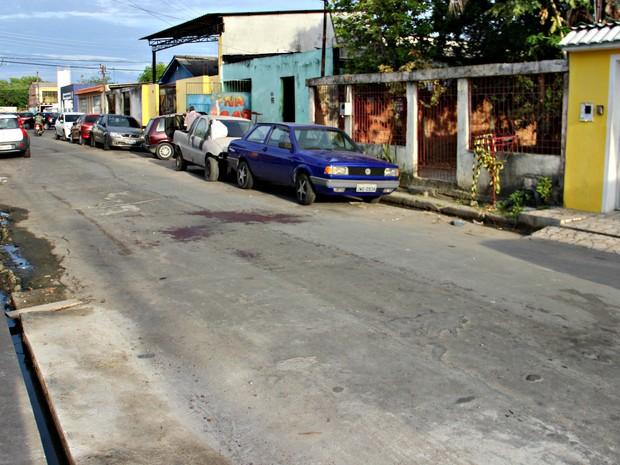 Via pública onde o pintor foi assassinado (Crédito: Adneison Severiano/G1 AM)