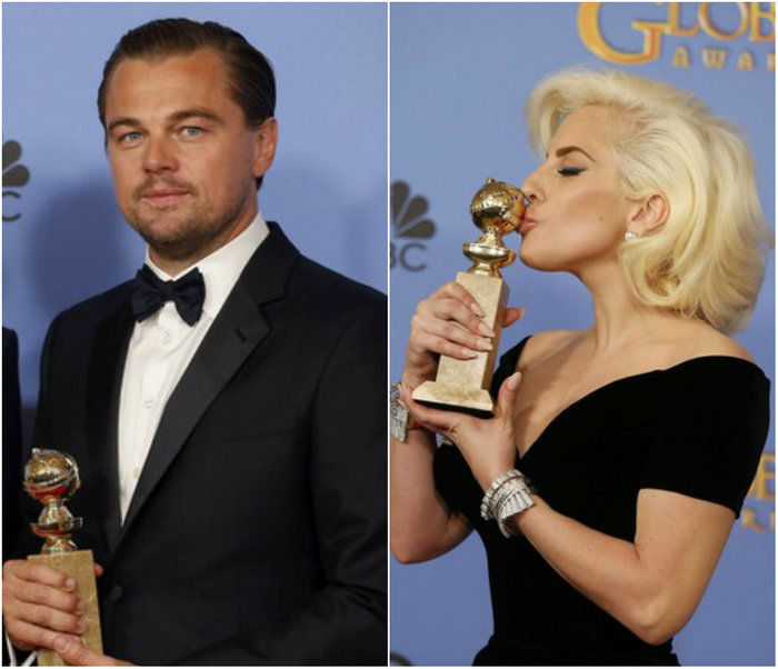 Lady Gaga e Leonardo DiCaprio (Crédito: Reprodução)