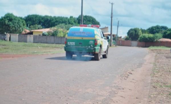 A polícia realiza diligências pela região