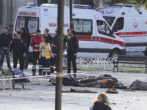 Explosão foi perto de basílica de Santa Sofia e da Mesquita Azul (Crédito: Reuters)