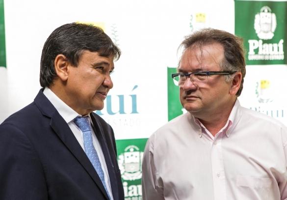 Wellington Dias e Merlong Solano (Crédito: Ascom)
