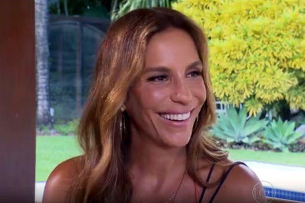 "Ivete durante entrevista no ""Fantástico"", da TV Globo"
