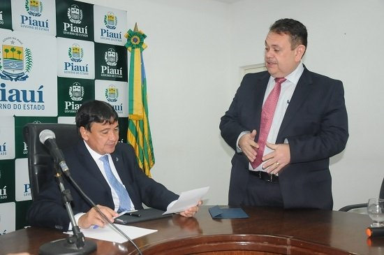 Governador Wellington Dias e o deputado federal Silas Freire (Crédito: Reprodução)