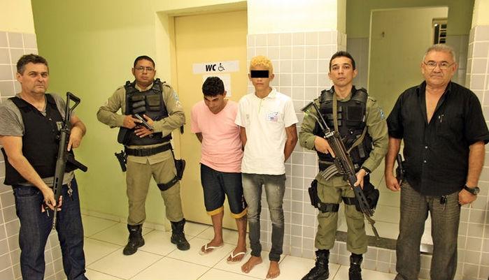 Os dois foram capturados pela Polícia Civil de Piracuruca