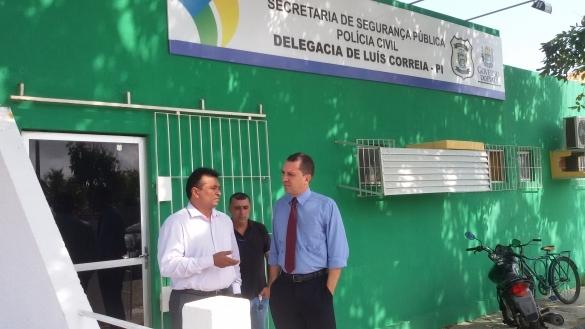 Fábio Abreu em visita à delegacias no Norte do Piauí