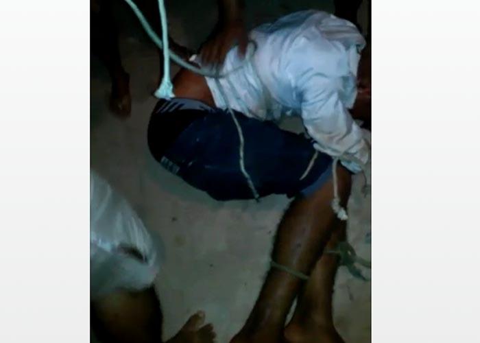 Bandido teve ferimentos durante ação de populares