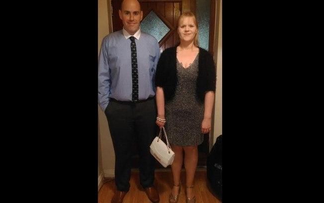 Foto atualizada do casal após perda de peso