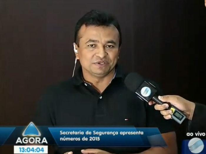 Secretário de Estado da Segurança, Fábio Abreu (Crédito: Reprodução TV Meio Norte)
