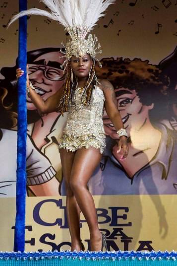 Pepê durante ensaio para o carnaval (Crédito: Fausto Saez/Divulgação)
