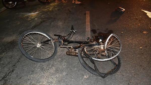 Bicicleta ficou muito danificada