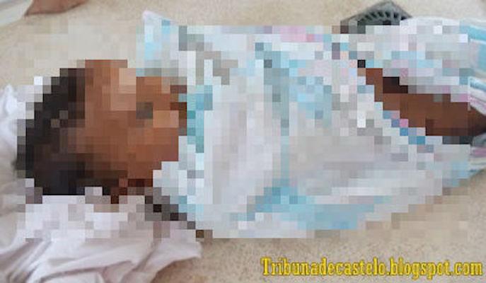 Criança vítima de afogamento (Crédito: Reprodução)