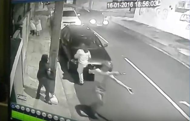 Ação dos bandidos em Teresina (Crédito: Reprodução)