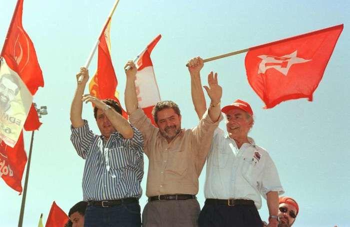 Lula ao lado de Brizola