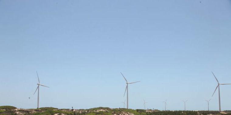 Produção de energia eólica aumenta cerca de 118,1% no Piauí