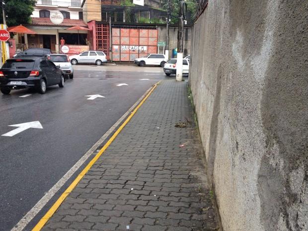 Rua onde o vereador Nélcemir Lagôas foi morto
