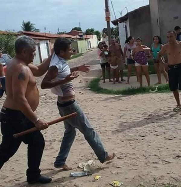 Ranieri Marinho da Silva  foi agredeido após tentar roubar um carro