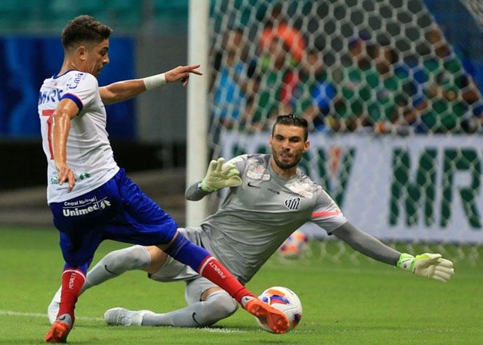 Bahia e Santos ficam no empate (Crédito: Globo Esporte )
