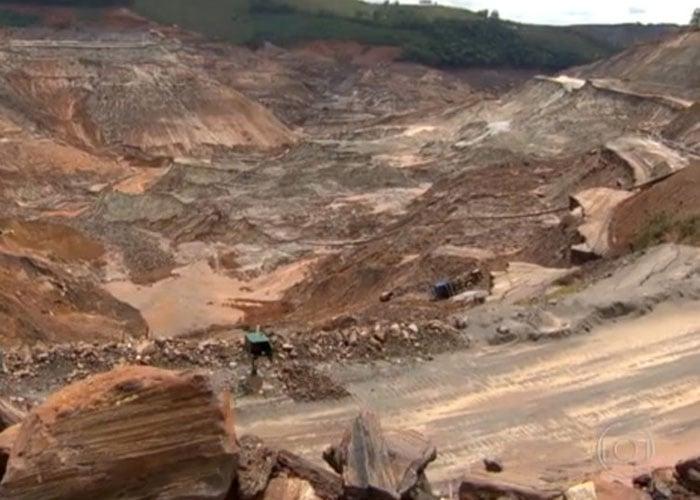 Barragem de Fundão se rompeu  (Crédito: Divulgação)