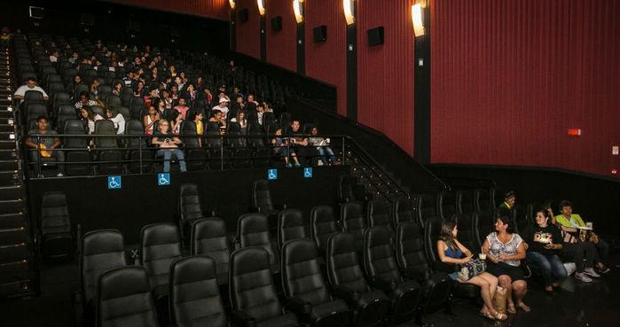 Salas com entradas esgotadas, mas vazias (Crédito: Bruno Santos/UOL)