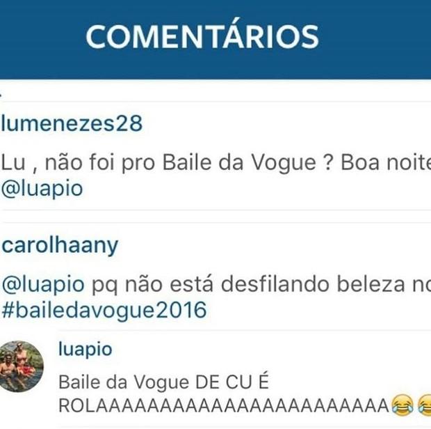 Piovani mostrou que não tem papas na língua (Crédito: Reprodução/ Instagram)