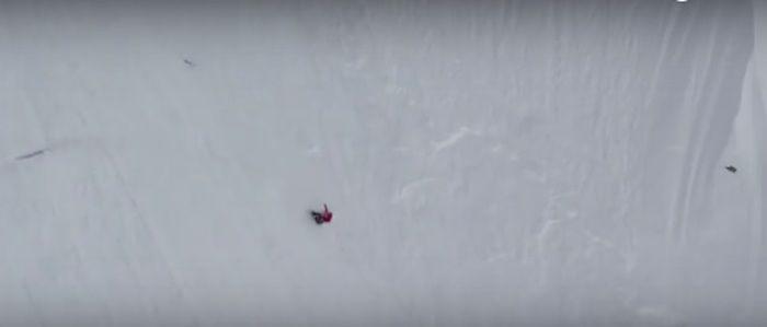Esquiadora caindo  (Crédito: Reprodução)