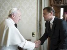 DiCaprio e Papa Francisco se reúnem para falar sobre meio ambiente