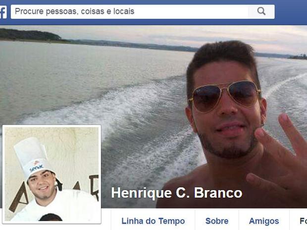 Henrique participava  de uma festa  (Crédito: Reprodução/ Facebook )