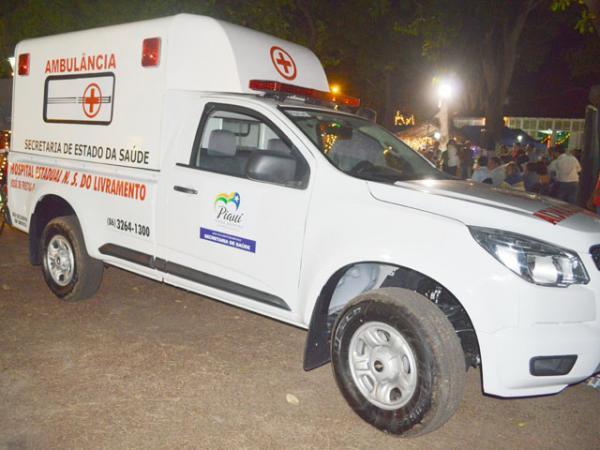 Ambulância envolvida no acidente