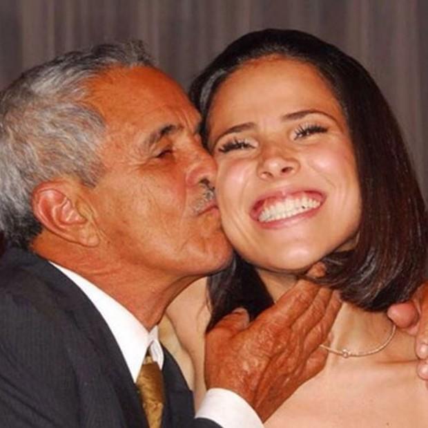 Wanessa e o avô Francisco