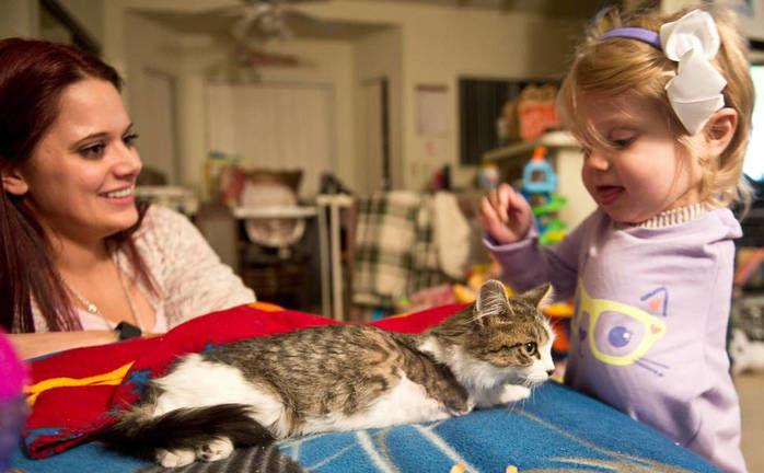 Scarlette e a gatinha (Crédito: Reprodução)