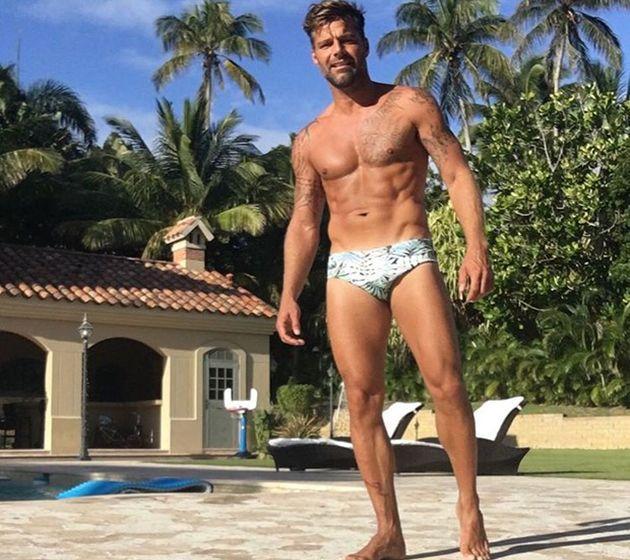Ricky Martin de sunga (Crédito: Reprodução/ Instagram)