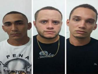Marcelo da Silva Pereira, Ramon Sideral Gomes dos Santos Souza e  Evanilson Santana