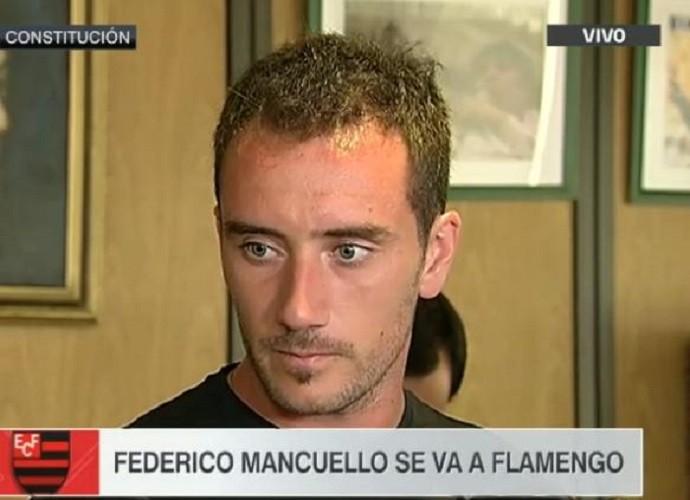 Mancuello em entrevista no Rio
