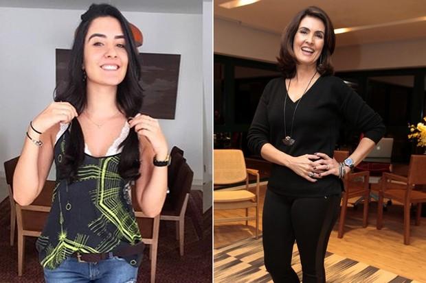 laura Bernardes e Fátima Bernardes (Crédito: Reprodução)