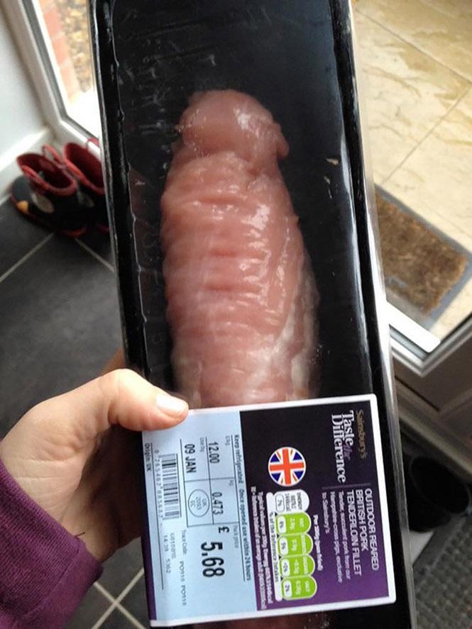Pedaço de carne se assemelha a um pênis (Crédito: Reprodução)