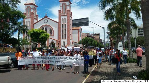 Protestos  (Crédito: Jacson Santana/Cimi - Regional Sul)