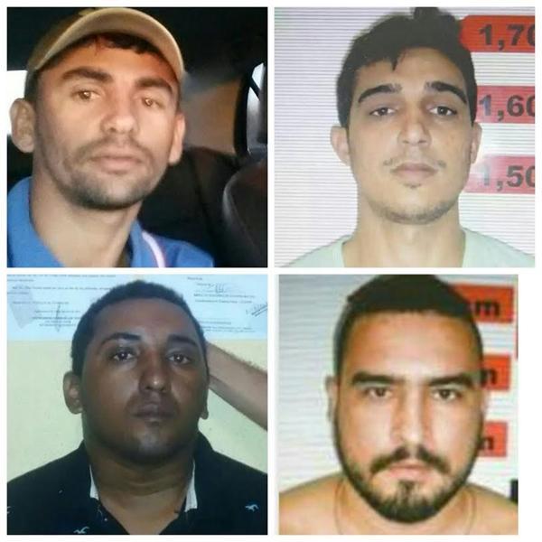 Os quatro suspeitos que participaram da tentativa de assalto