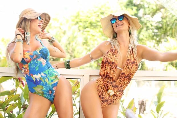 Laura Keller e vice Miss Bumbum  (Crédito: Divulgação)