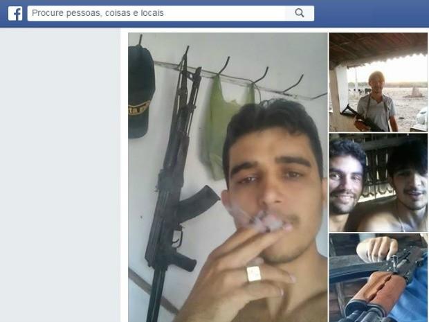 Fotos em celular do suspeito ajudaram a polícia a localizá-lo (Crédito: Reprodução)