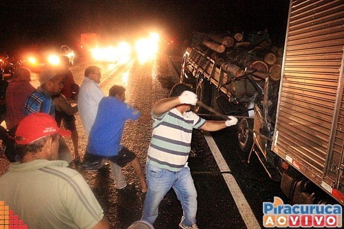 acidente br 343 (Crédito: reprodução)