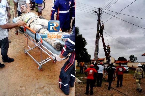 Homem recebe descarga elétrica e é salvo por amigo no Piauí