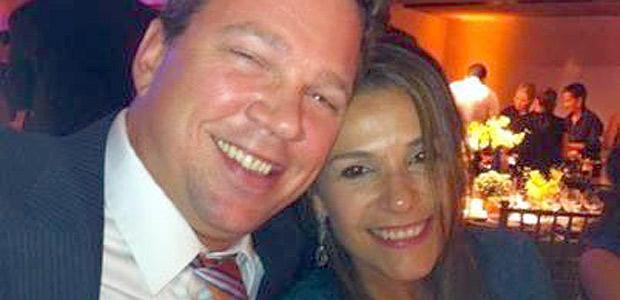 brasileira Fabíola Bittar com o marido (Crédito: Reprodução Facebook)