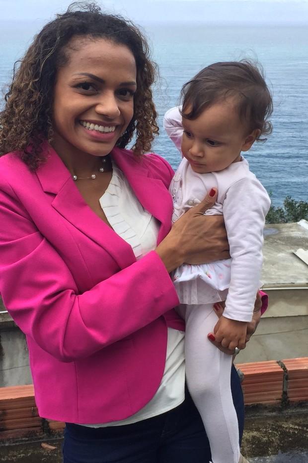 Quitéria Chagas e sua filha (Crédito: Arquivo Pessoal )