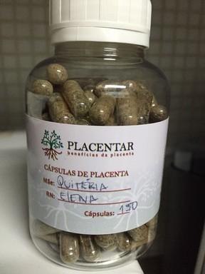 Quitéria Chagas ingeriu placenta  (Crédito: Arquivo Pessoal )