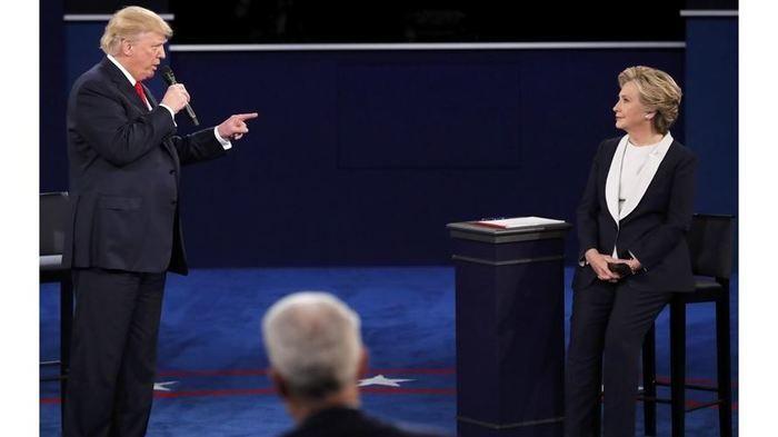 Hillary Clinton durante debate com Donald Trump (Crédito: Reprodução)