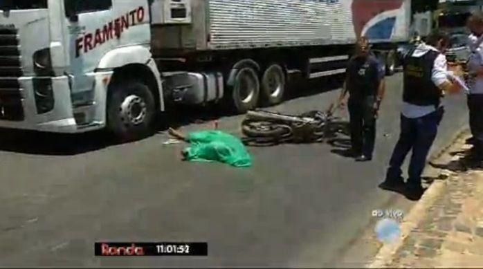Suspeito veio a óbito no local (Crédito: Reprodução/TV Meio Norte)