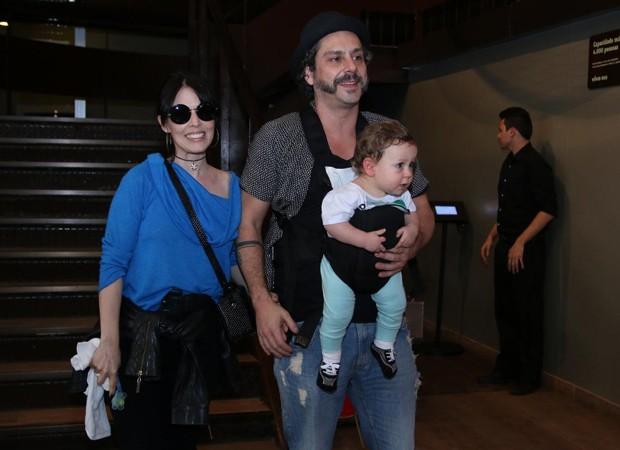 Alexandre Nero e o filho (Crédito: Roberto Filho / BRAZIL NEWS)